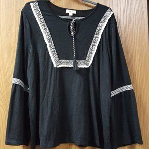 Style & Co Cotton Embroidered Top